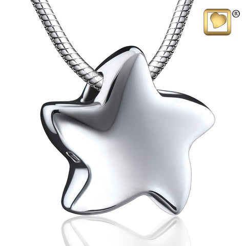Pendant: Angelic Star - Rhodium Plated