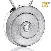 Pendant: Eternity - Rhodium Plated Two Tone w/Clear Crystal