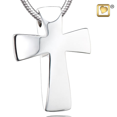 Pendant: Cross - Rhodium Plated