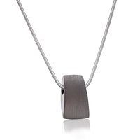 Pendant: Tribute - Ruthenium Plated Two Tone