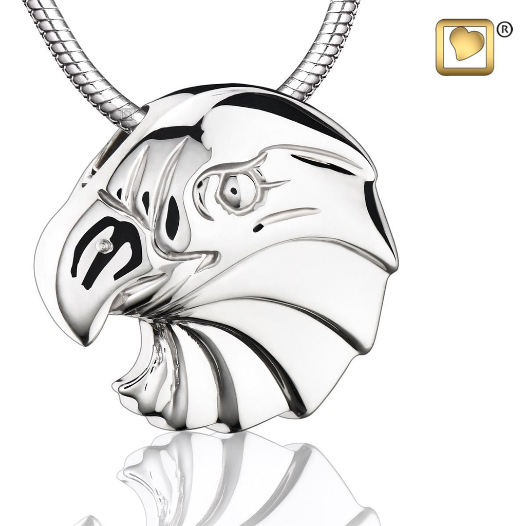 Pendant: Eagle - Rhodium Plated