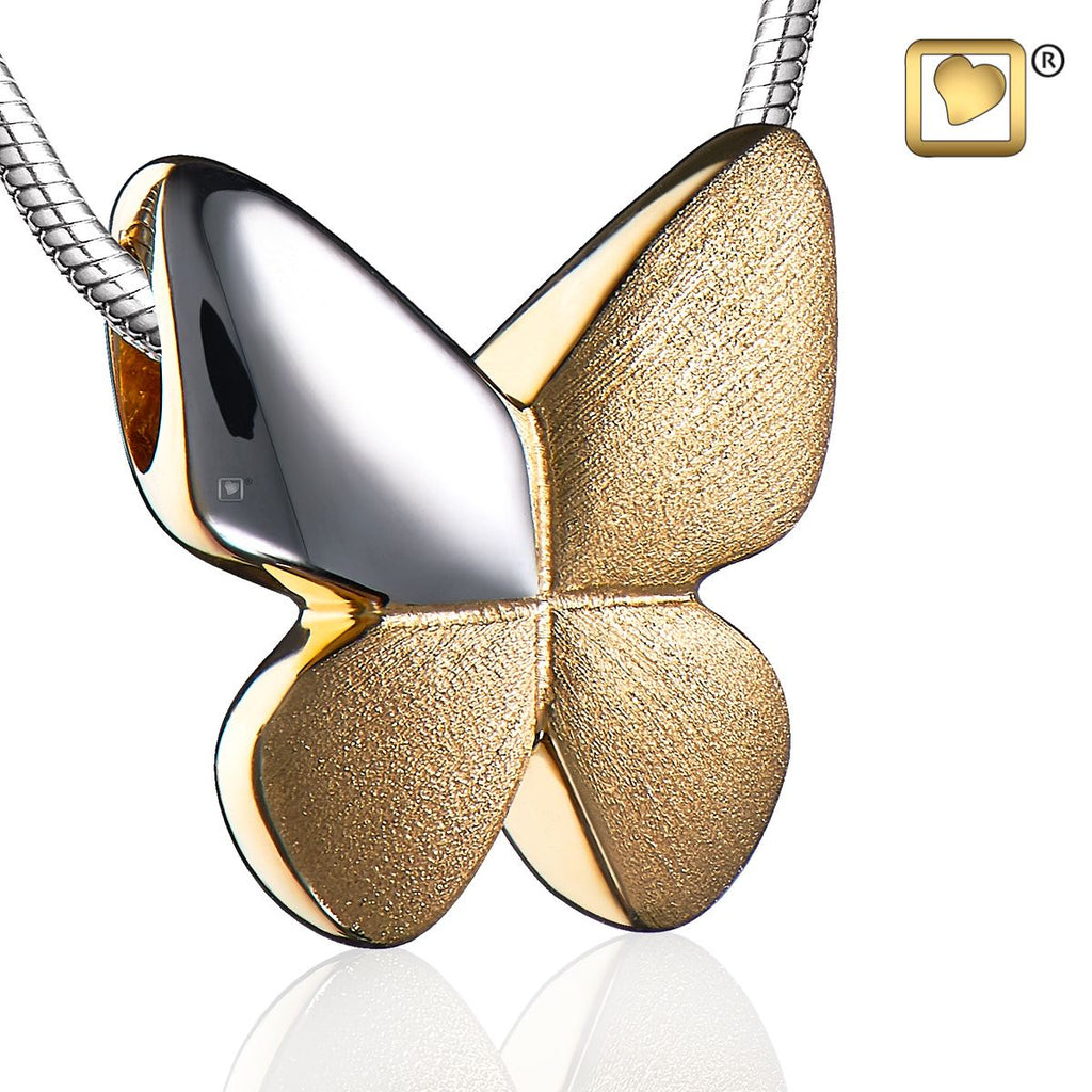 Pendant: Butterfly - Gold Vermeil Two Tone