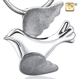Pendant: Flying Dove - Rhodium Plated Two Tone