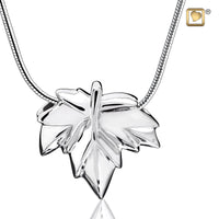 Pendant: Autumn Leaf - Rhodium Plated
