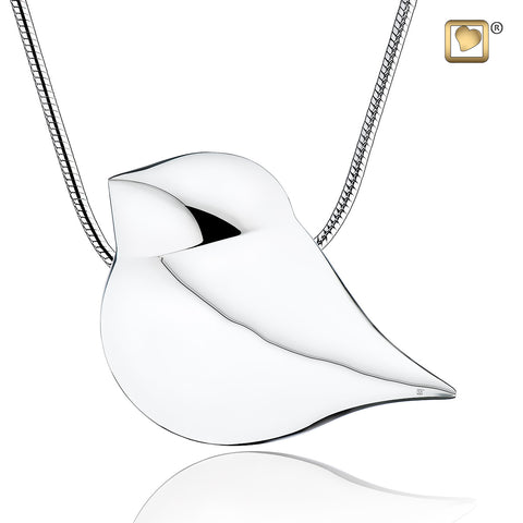 Pendant: Soul Bird - Rhodium Plated