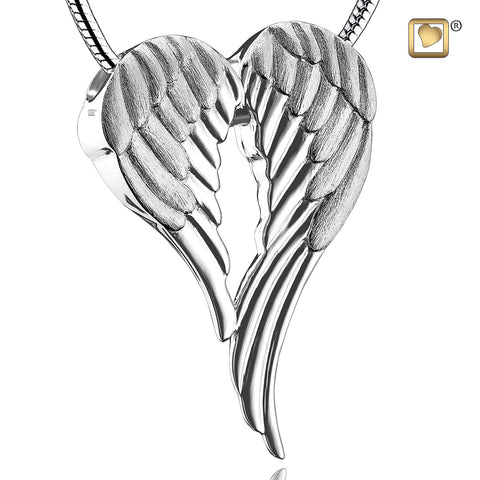 Pendant: Angel Wings - Rhodium Plated Two Tone