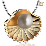 Pendant: Sea Shell Pearl - Gold Vermeil Two Tone