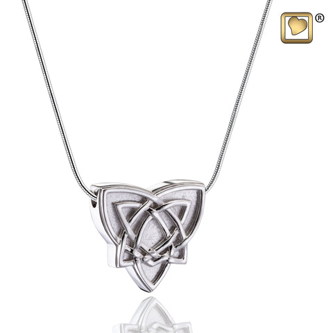 Pendant: Celtic Trinity Knot - Rhodium Plated Two Tone