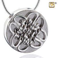 Pendant: Celtic Circle - Rhodium Plated Two Tone