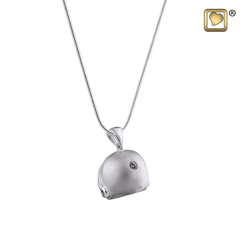Pendant: Football Helmet - Rhodium Plated Two Tone