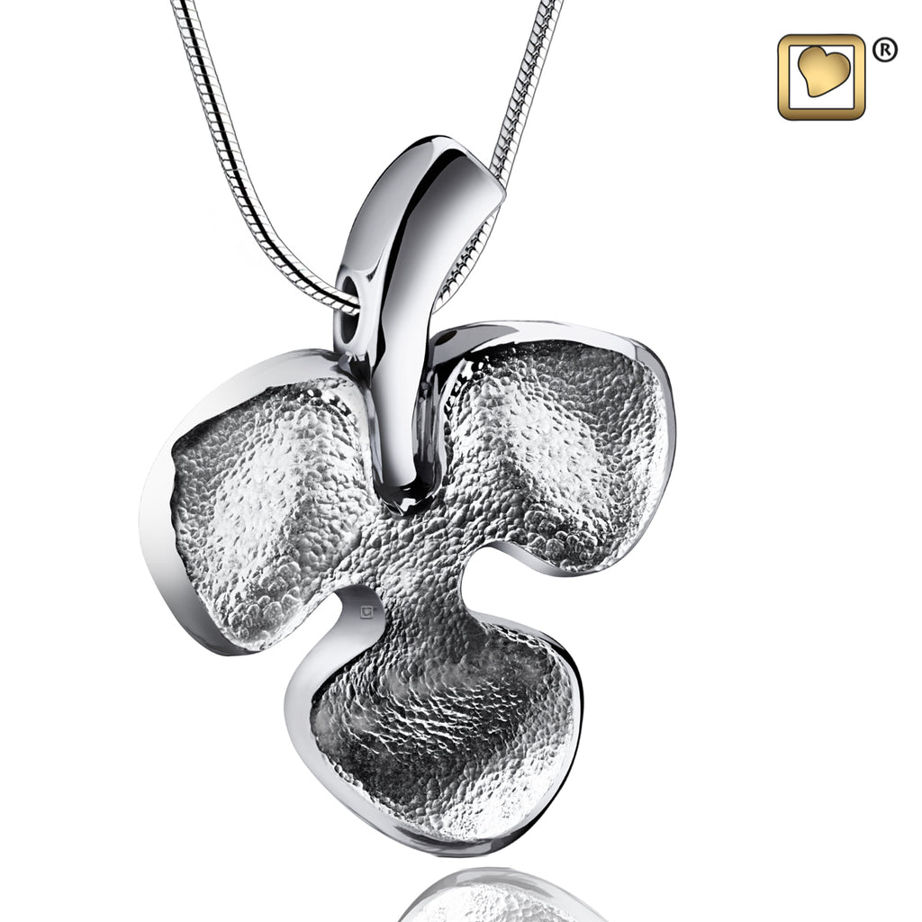 Pendant: Shamrock - Rhodium Plated Two Tone