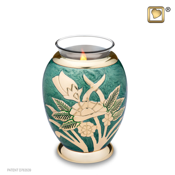 Emerald Rose (Tealight Urn)