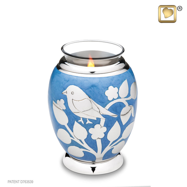 Blessing Birds Silver (Tealight Urn)