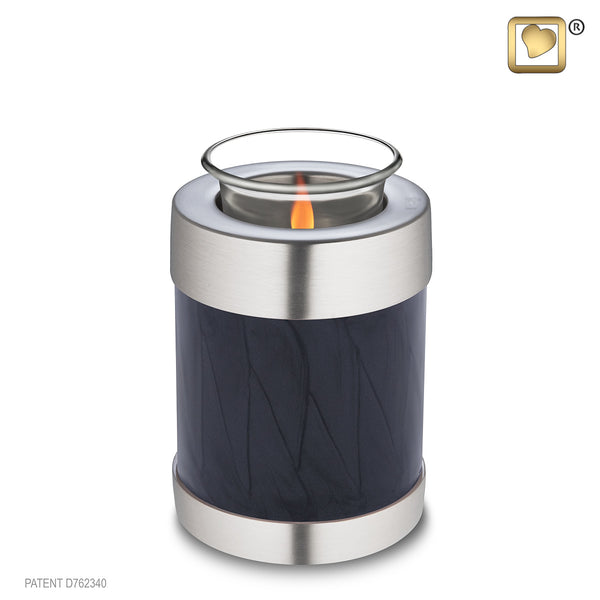 Simplicity Midnight Pearl Pewter (Tealight Urn)