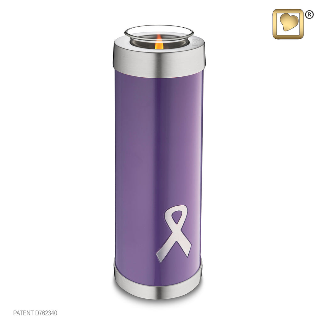Awareness Purple Tall (Tealight Urn)