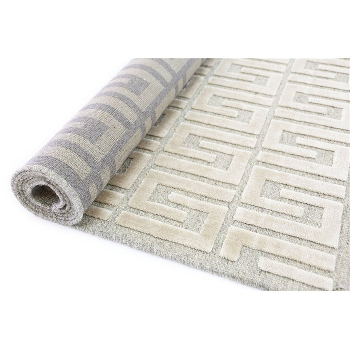 Wool & Art Silk Modern Design Rug