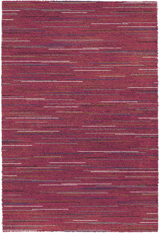 Thick Modern Cerise Pink Shaggy Rug