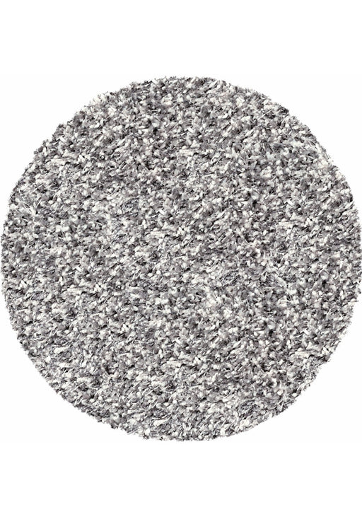 Twilight Pearl Silver Ivory Mix Shaggy Round Rug
