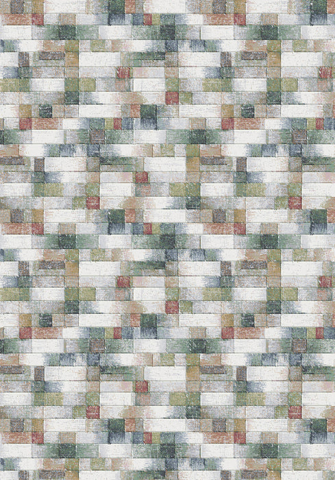 Multicolor checkered design Argentum Rug Size: 160 x 230cm-Modern Rug-Rugs Direct