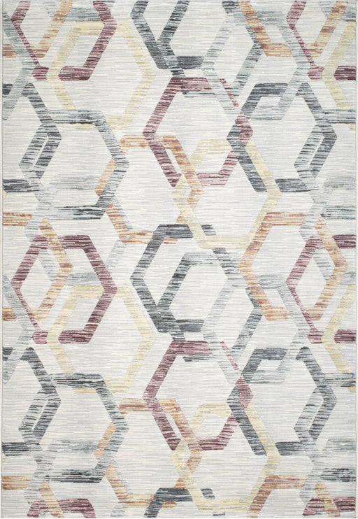 Multi Coloured Abstract Design Argentum Rug