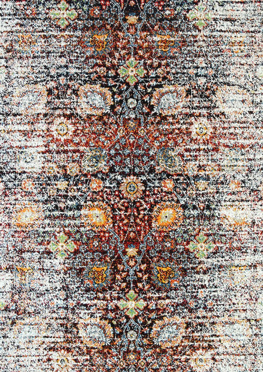 Multi Colour Vintage Design Rug
