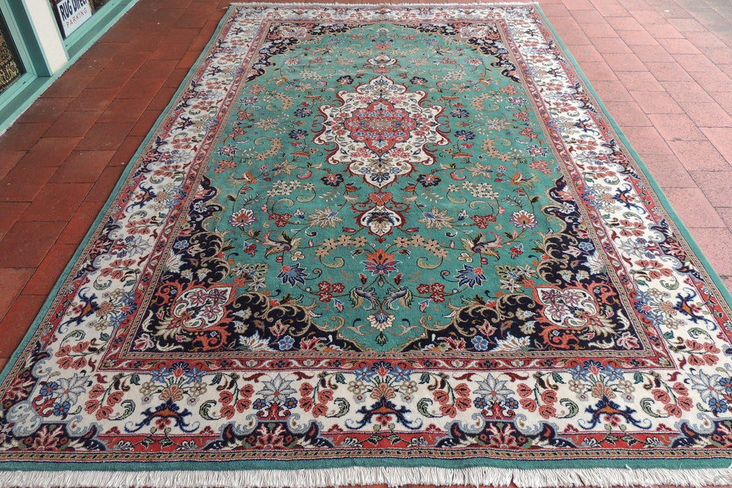 Persian Hand Knotted Yazd Rug Size: 313 x 200cm-Persian Rug-Rugs Direct