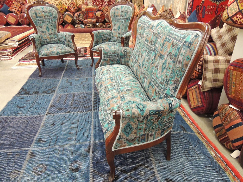 French Antique Settee-Chair-Rugs Direct