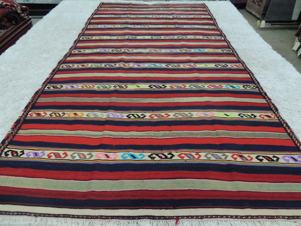 Persian Hand Made Saveh Kilim Rug Size: 295 x 145cm
