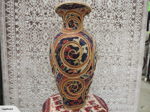 Persian vase made of Antique Rug , Kilim & Jajim