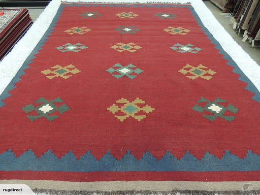 Persian Hand Made Shiraz Kilim Rug Size: 272x194cm-Physical-Rugs Direct