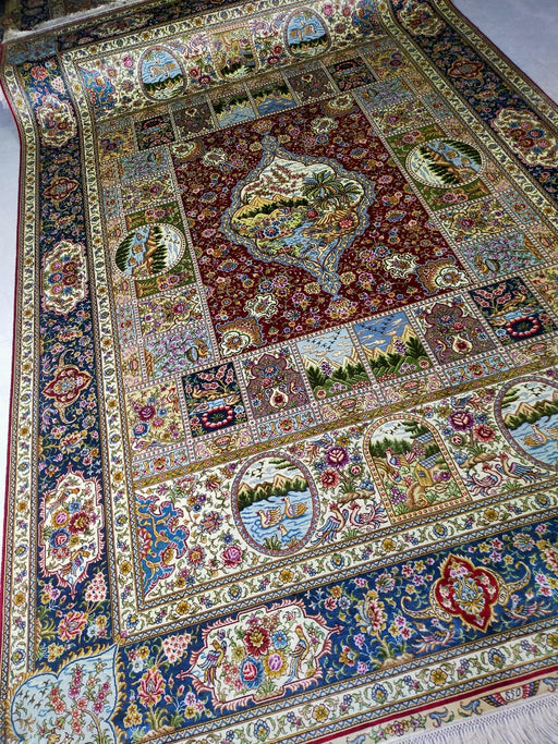 Hand Knotted Persian Design Pure Silk Rug Size: 291 x 186cm