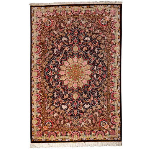 Hand Knotted Persian Qum Pure Silk Rug Size: 200 x 300cm
