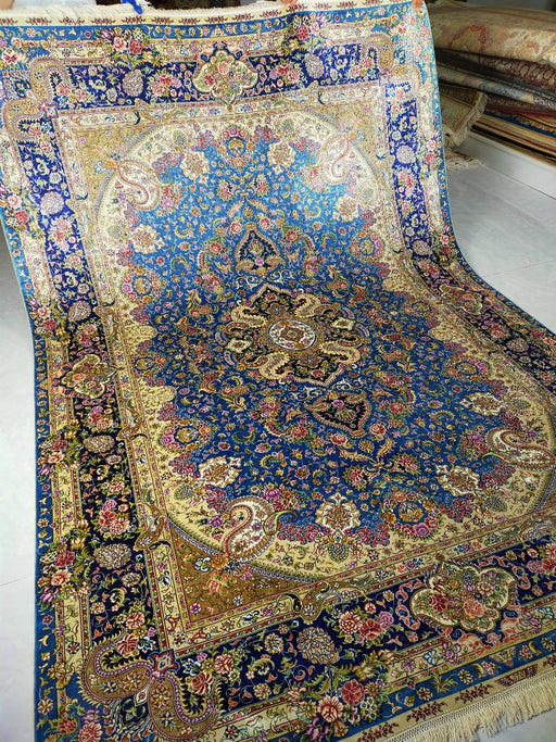 Hand Knotted Persian Design Pure Silk Rug Size: 271 x 187cm