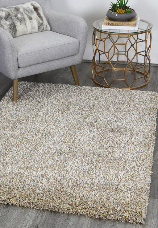 Caramel & Off White Shaggy Turkish Rug