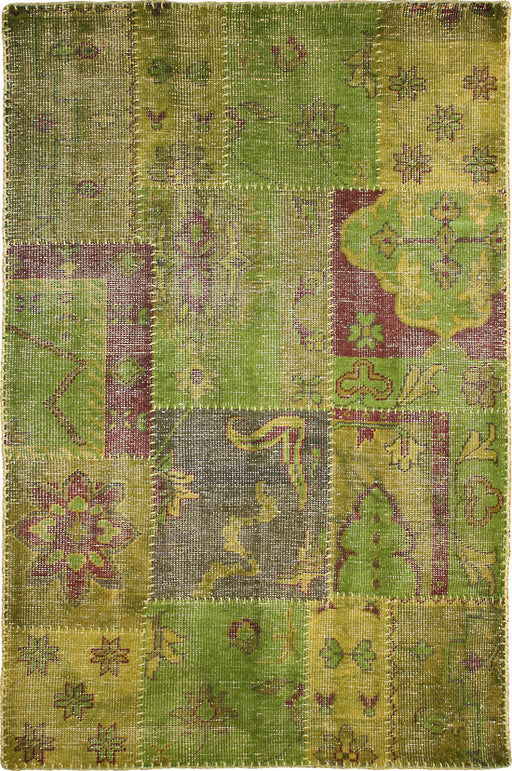 Patchwork Citron Coloured Rug