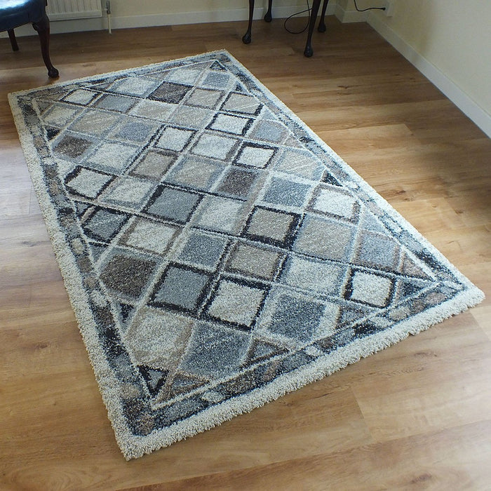 North African Berber Look Design Shaggy Rug-Modern Rug-Rugs Direct