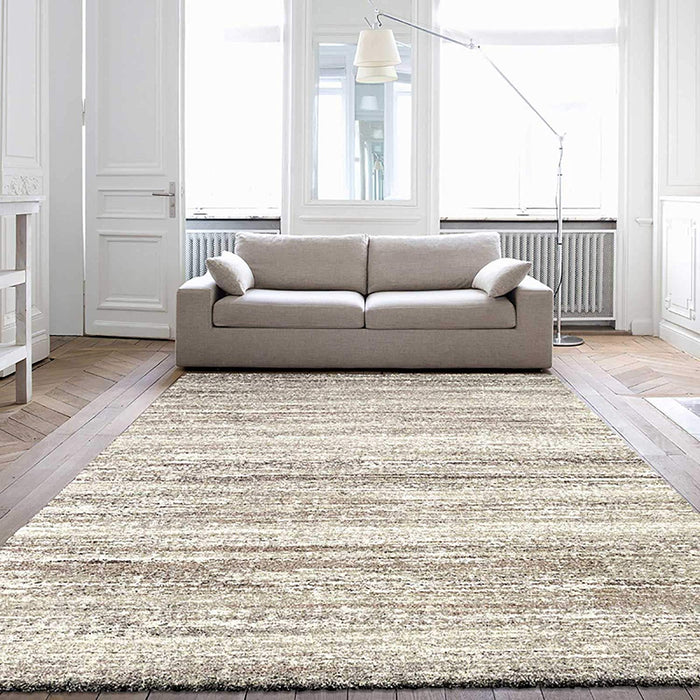Thick Shaggy Multi Coloured Hallway Runner 80cm x Cut to Order!-Modern Rug-Rugs Direct