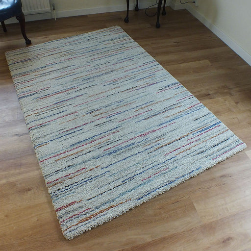 Thick Modern Multi Colour Shaggy Rug-Modern Rug-Rugs Direct