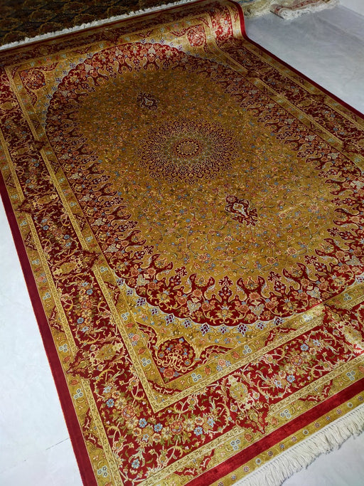 Hand Knotted Persian Design Pure Silk Rug Size: 271 x 186cm