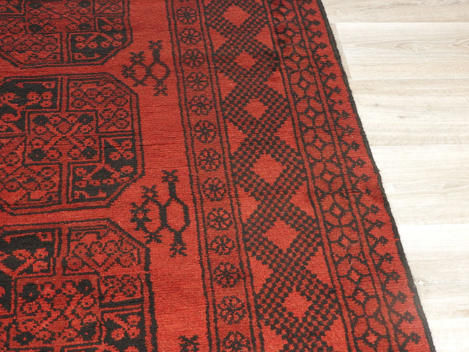 Afghan Hand Knotted Turkman Rug Size: 298cm x 199cm-Afghan Rug-Rugs Direct