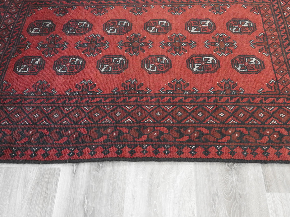 Afghan Hand Knotted Turkman Rug Size: 144 x 98cm-Afghan Rug-Rugs Direct