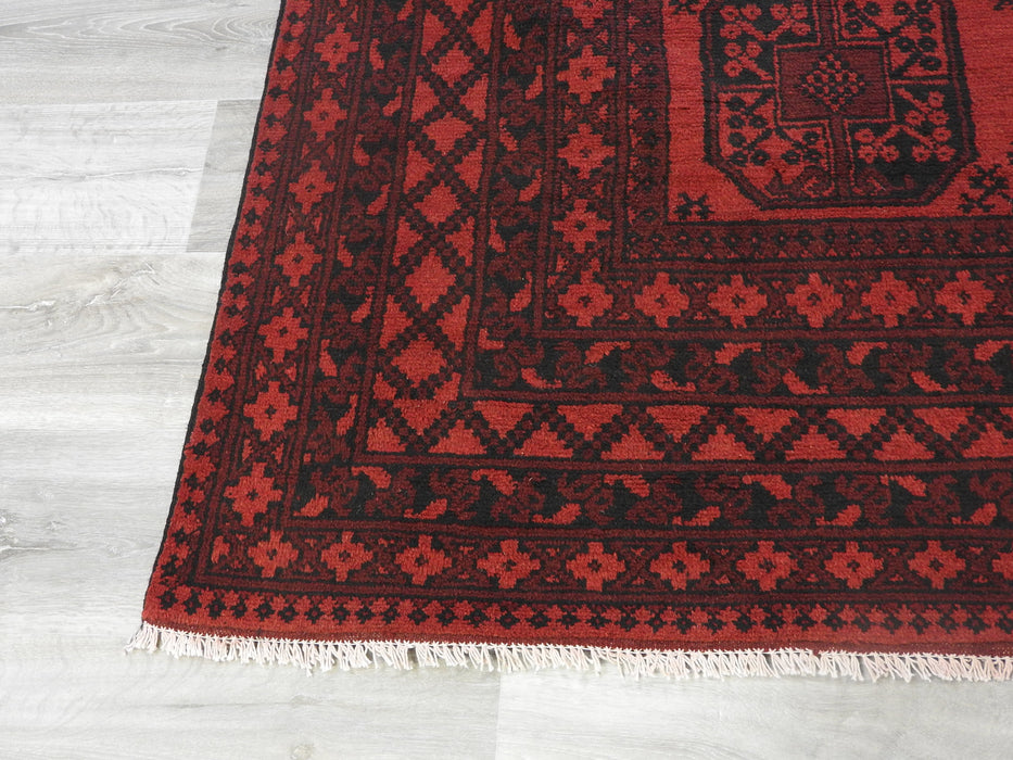 Afghan Hand Knotted Turkman Rug Size:  286cm x 194cm