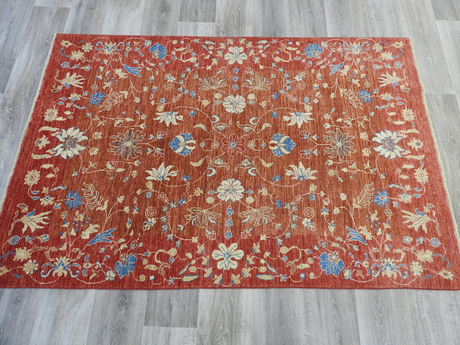 Afghan Hand Knotted Choubi Rug Size: 126 x 186cm-Afghan Rug-Rugs Direct
