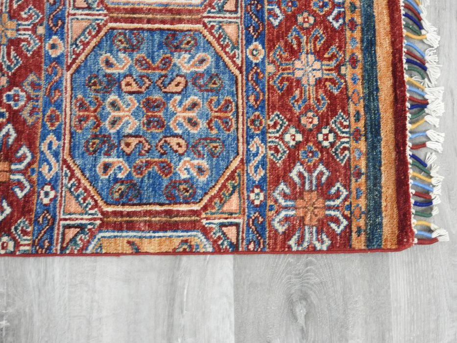 Afghan Hand Knotted Khorjin Runner Size: 86 x 244cm
