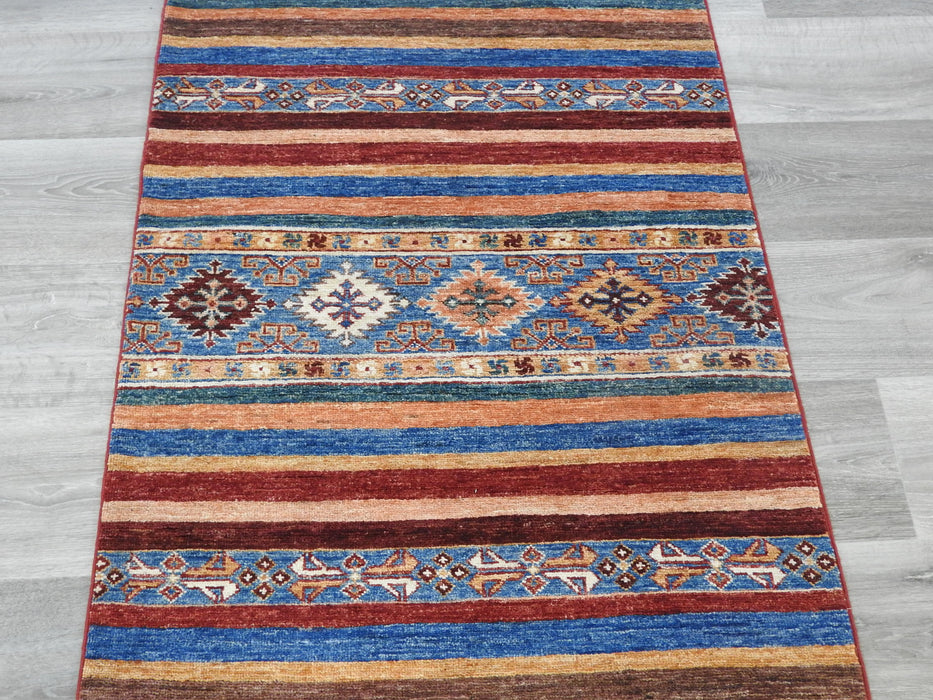 Afghan Hand Knotted Khorjin Runner Size: 81 x 244cm