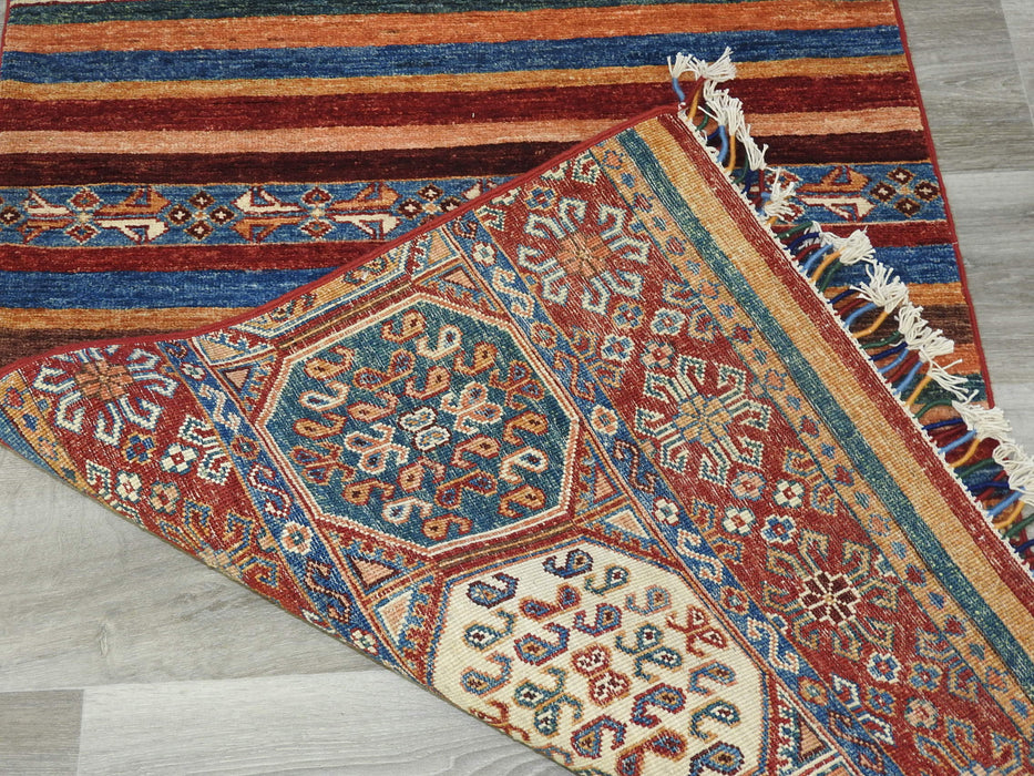 Afghan Hand Knotted Khorjin Runner Size: 81 x 244cm-Afghan Rug-Rugs Direct