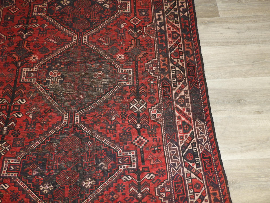 Persian Hand Knotted Antique Shiraz Rug Size: 200 x 145cm-Shiraz rug-Rugs Direct