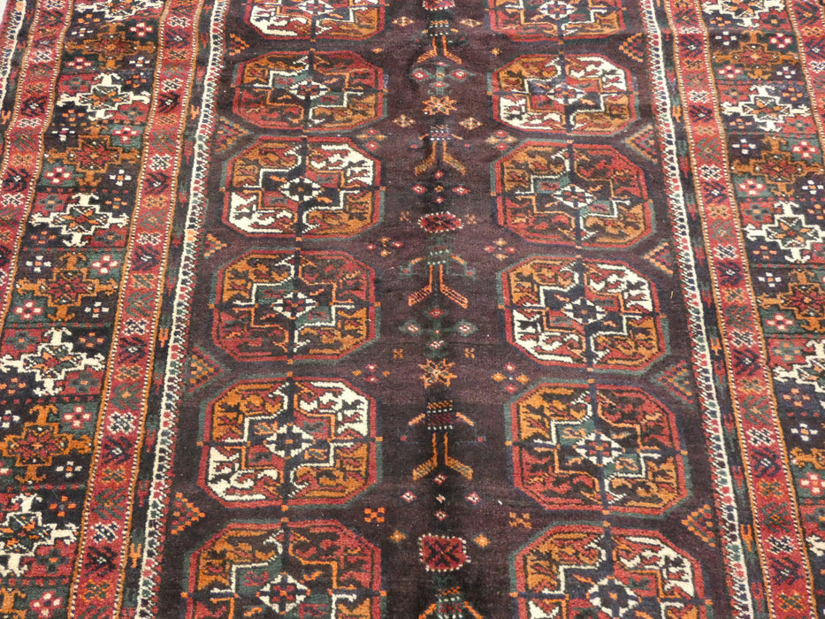 Persian Hand Knotted Baluchi Rug Size: 218 x 105 cm-Baluchi Rug-Rugs Direct