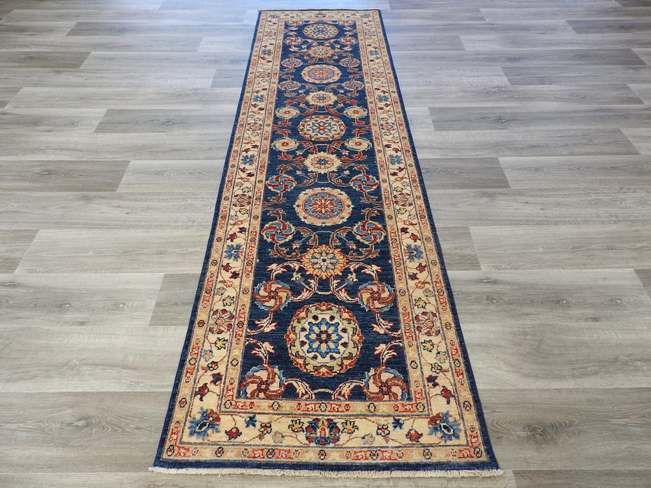 Afghan Hand Knotted Choubi Runner Size: 78 x 278cm-Afghan Rug-Rugs Direct