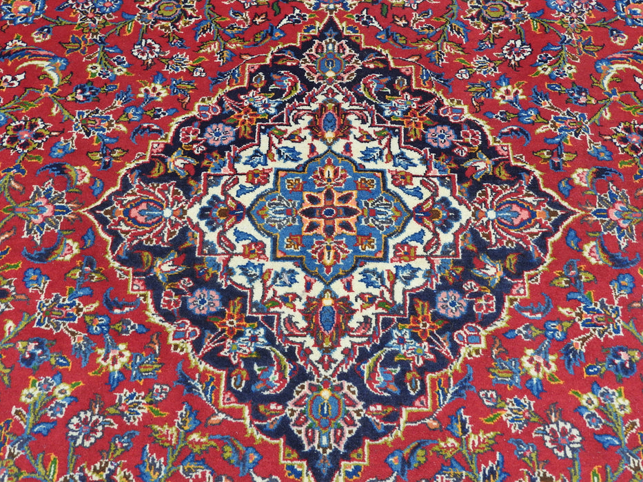 Persian Hand Knotted Kashan Rug Size: 355 x 255cm-Unclassified-Rugs Direct